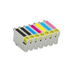 7 X COMPATIBLES Tinta Epson T0801- 802-803-804-805-806-