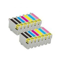 14 X COMPATIBLES Tinta Epson T0801- 802-803-804-805-806-