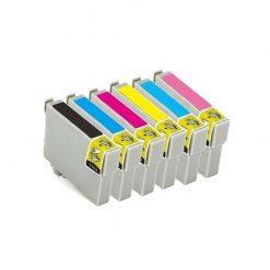 6 X COMPATIBLES Tinta Epson T0801- 802-803-804-805-806-